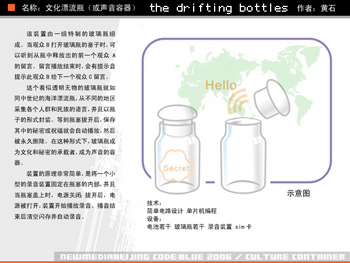 Huang Shi, Drift Bottles (schmatic)